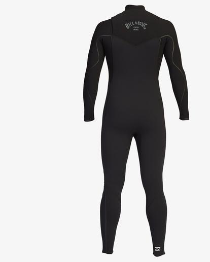 4 3/2 Furnace Comp Chest Zip Full Wetsuit Black ABYW100121 Billabong