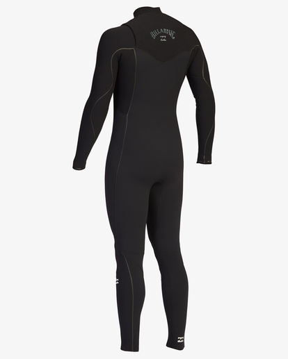 4 4/3 Furnace Comp Chest Zip Full Wetsuit Black ABYW100122 Billabong