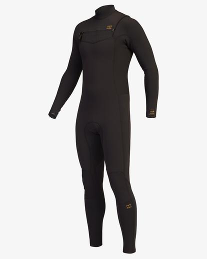 3 3/2 Revolution Chest Zip Full Wetsuit Black ABYW100127 Billabong