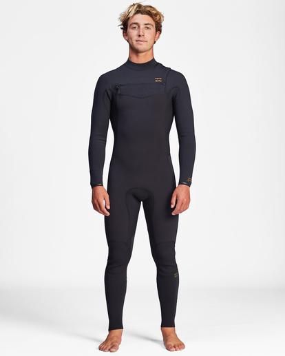 2 3/2 Revolution Chest Zip Full Wetsuit Black ABYW100127 Billabong