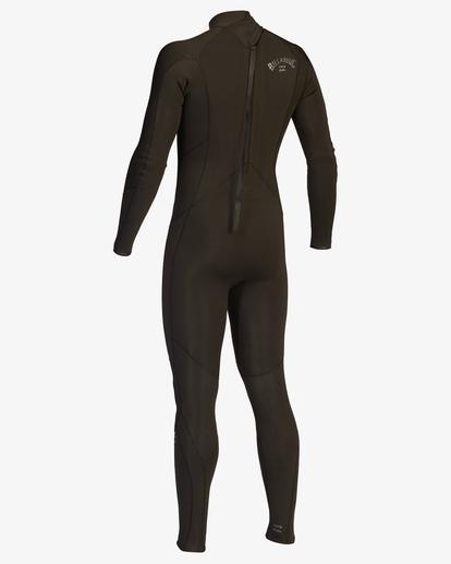 4 3/2 Absolute Back Zip Full Wetsuit Black ABYW100136 Billabong