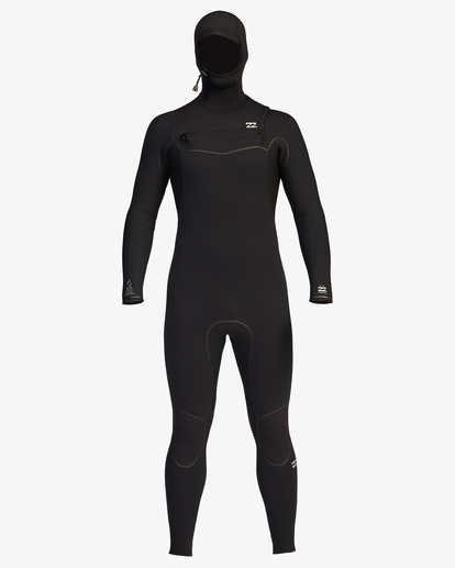 9 5/4 Furnace Chest Zip Hooded Full Wetsuit Black ABYW200102 Billabong