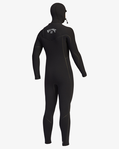 10 5/4 Furnace Chest Zip Hooded Full Wetsuit Black ABYW200102 Billabong