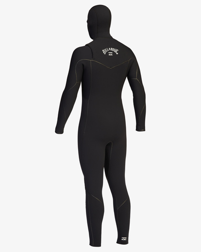 12 5/4 Furnace Chest Zip Hooded Full Wetsuit Black ABYW200102 Billabong