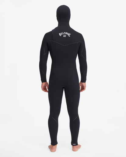 3 5/4 Furnace Chest Zip Hooded Full Wetsuit Black ABYW200102 Billabong