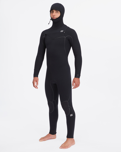 0 5/4 Furnace Chest Zip Hooded Full Wetsuit Black ABYW200102 Billabong