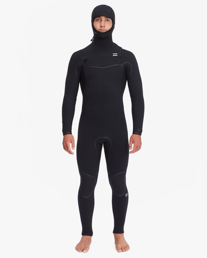 1 5/4 Furnace Chest Zip Hooded Full Wetsuit Black ABYW200102 Billabong