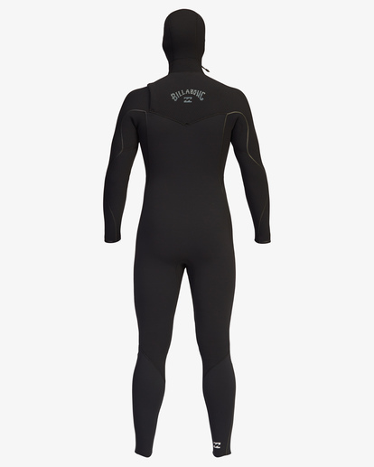 10 4/3 Furnace Comp Chest Zip Hooded Full Wetsuit Black ABYW200103 Billabong