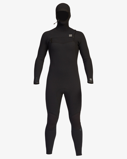 8 4/3 Furnace Comp Chest Zip Hooded Full Wetsuit Black ABYW200103 Billabong