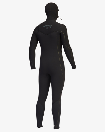 9 4/3 Furnace Comp Chest Zip Hooded Full Wetsuit Black ABYW200103 Billabong