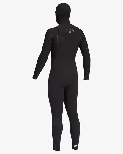 11 4/3 Furnace Comp Chest Zip Hooded Full Wetsuit Black ABYW200103 Billabong