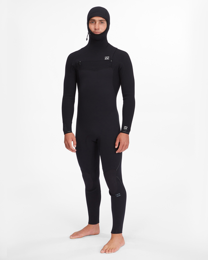 0 4/3 Furnace Comp Chest Zip Hooded Full Wetsuit Black ABYW200103 Billabong
