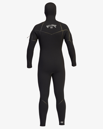 3 6/5 Furnace Chest Zip Hooded Full Wetsuit Black ABYW200107 Billabong