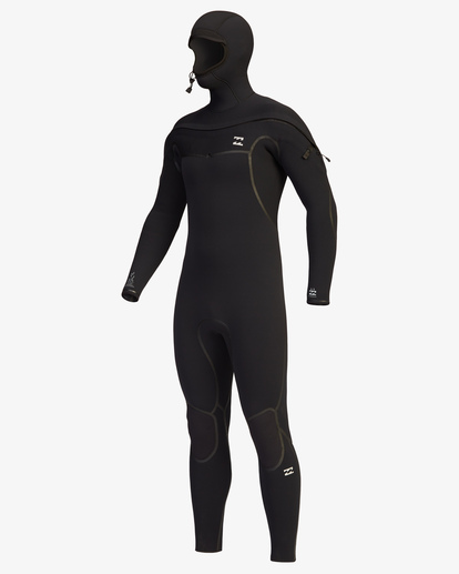0 6/5 Furnace Chest Zip Hooded Full Wetsuit Black ABYW200107 Billabong