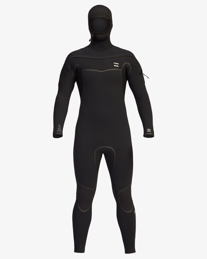 1 6/5 Furnace Chest Zip Hooded Full Wetsuit Black ABYW200107 Billabong