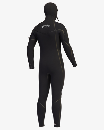 2 6/5 Furnace Chest Zip Hooded Full Wetsuit Black ABYW200107 Billabong