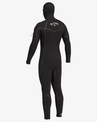 4 6/5 Furnace Chest Zip Hooded Full Wetsuit Black ABYW200107 Billabong