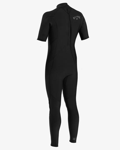 1 2/2 Absolute Back Zip Short Sleeve Flatlock Full Wetsuit Black ABYW300101 Billabong