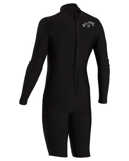 1 2/2 Absolute Comp Back Zip Long Sleeve Spring Wetsuit Black ABYW400104 Billabong