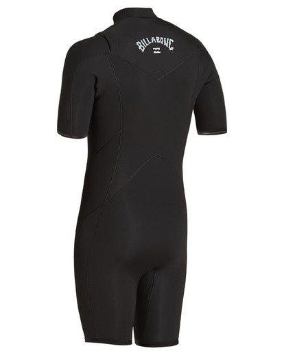 3 2/2 Absolute Chest Zip Spring Wetsuit Black ABYW500100 Billabong