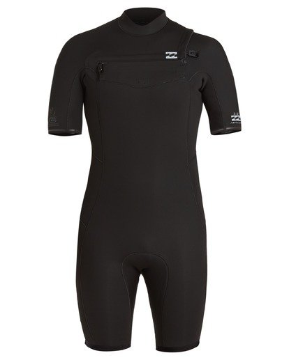 1 2/2 Absolute Chest Zip Spring Wetsuit Black ABYW500100 Billabong
