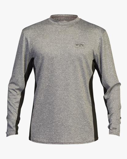 0 Arch Mesh Long Sleeve Rashguard Grey ABYWR00101 Billabong