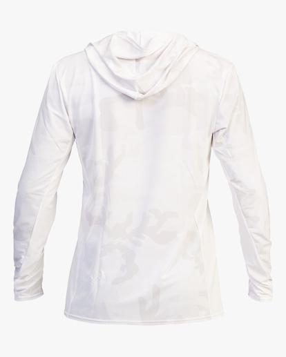 3 Arch Mesh Hooded Long Sleeve Rashguard White ABYWR00102 Billabong