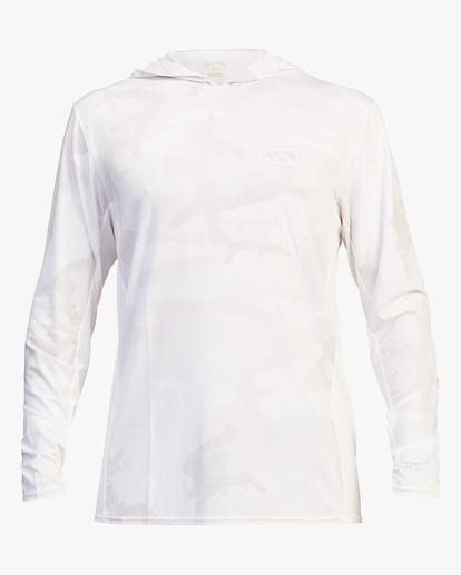 1 Arch Mesh Hooded Long Sleeve Rashguard White ABYWR00102 Billabong