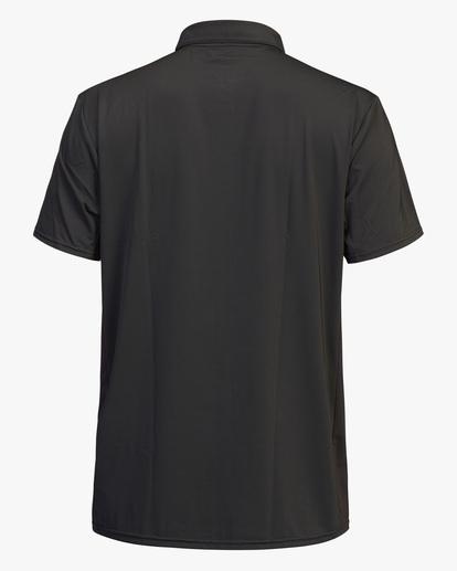 2 Arch Mesh Polo Short Sleeve Rashguard Black ABYWR00103 Billabong
