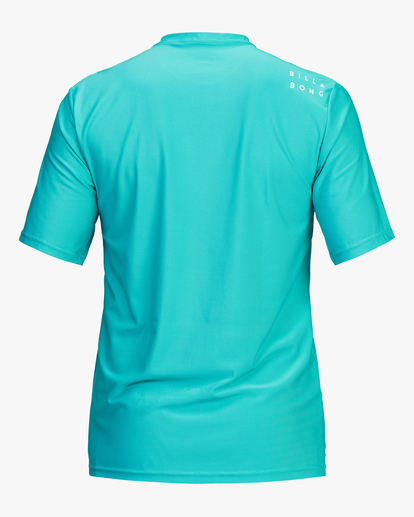 1 All Day Wave Loose Fit Short Sleeve Rashguard Blue ABYWR00104 Billabong