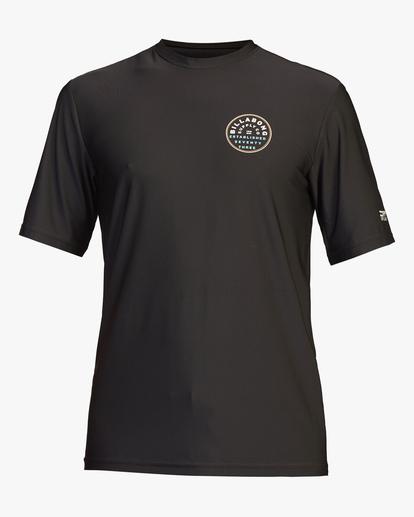 0 Roto Loose Fit Short Sleeve Rashguard Black ABYWR00107 Billabong