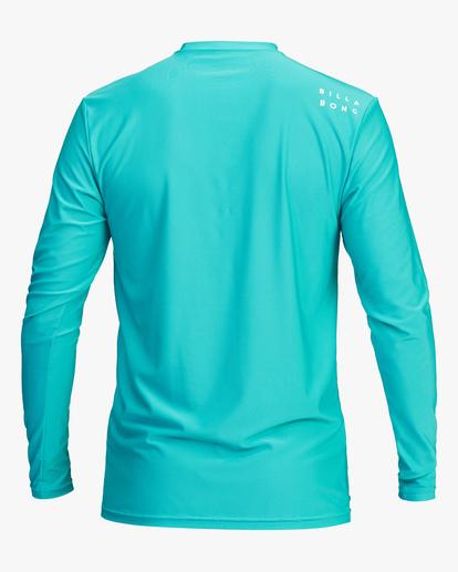1 All Day Wave Loose Fit Long Sleeve Rashguard Blue ABYWR00109 Billabong