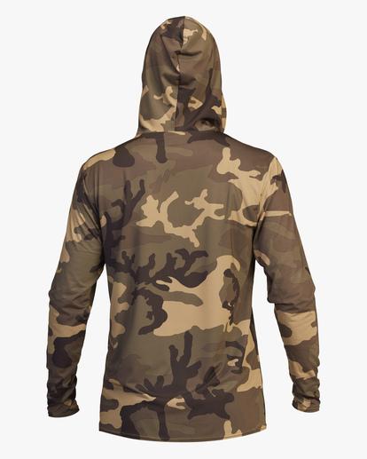 2 Stacked Loose Fit Hooded Zip-Up Long Sleeve Rashguard Black ABYWR00113 Billabong