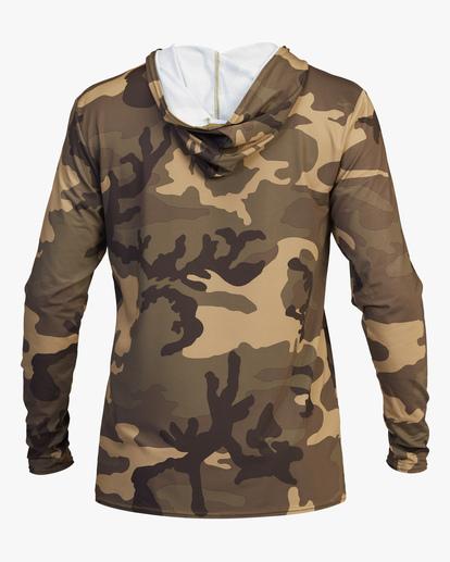 3 Stacked Loose Fit Hooded Zip-Up Long Sleeve Rashguard Black ABYWR00113 Billabong
