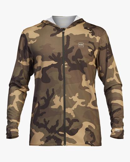 1 Stacked Loose Fit Hooded Zip-Up Long Sleeve Rashguard Black ABYWR00113 Billabong