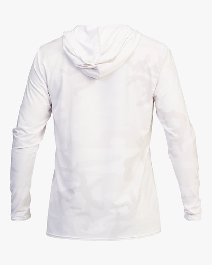2 Stacked Loose Fit Hooded Zip-Up Long Sleeve Rashguard White ABYWR00113 Billabong