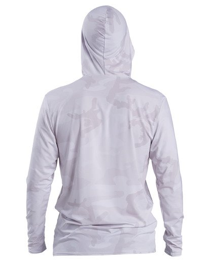 3 Stacked Loose Fit Hooded Zip-Up Long Sleeve Rashguard White ABYWR00113 Billabong