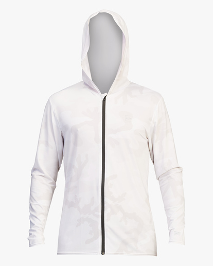 0 Stacked Loose Fit Hooded Zip-Up Long Sleeve Rashguard White ABYWR00113 Billabong