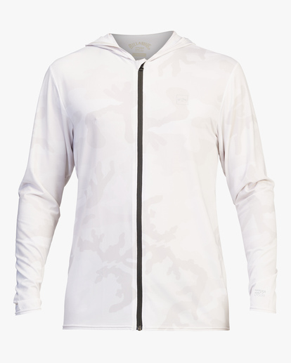 1 Stacked Loose Fit Hooded Zip-Up Long Sleeve Rashguard White ABYWR00113 Billabong