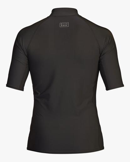1 All Day Wave Performance Fit Short Sleeve Rashguard Black ABYWR00114 Billabong