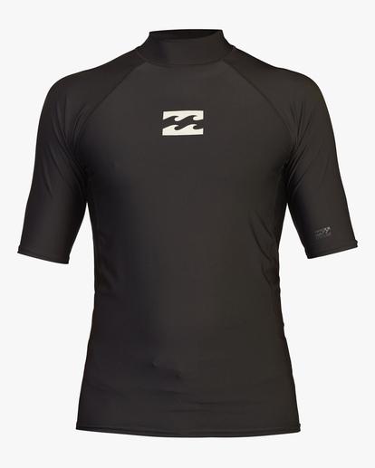 0 All Day Wave Performance Fit Short Sleeve Rashguard Black ABYWR00114 Billabong
