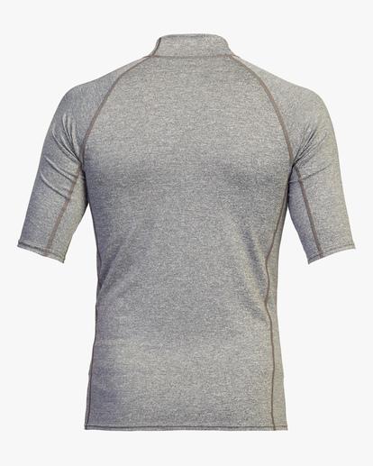 1 Arch Performance Fit Short Sleeve Rashguard Grey ABYWR00116 Billabong