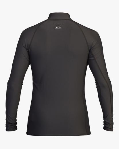 1 All Day Wave Performance Fit Long Sleeve Rashguard Black ABYWR00117 Billabong