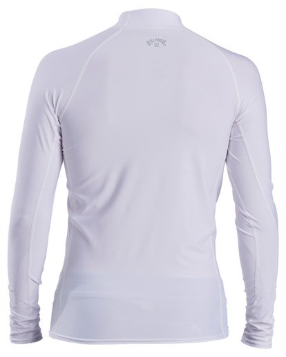 1 All Day Wave Performance Fit Long Sleeve Rashguard White ABYWR00117 Billabong