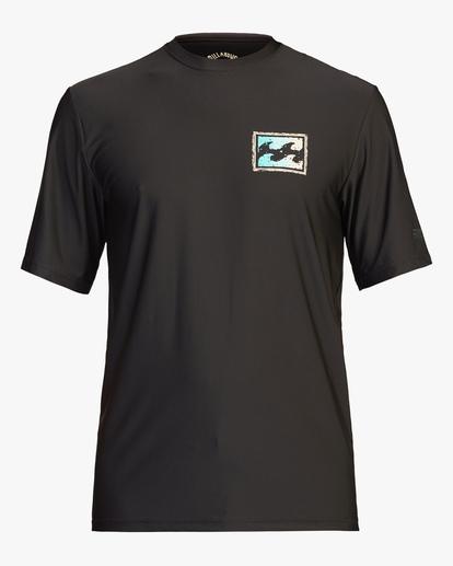 0 Crayon Wave Loose Fit Short Sleeve Rashguard Black ABYWR00122 Billabong