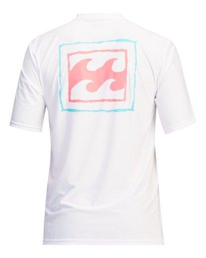 1 Crayon Wave Loose Fit Short Sleeve Rashguard White ABYWR00122 Billabong