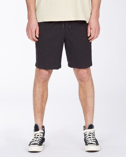 "2 A/Div Surftrek Hemp Short 18"" Black ABYWS00108 Billabong"