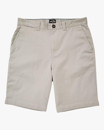 "0 Carter Stretch Shorts 21"" Grey ABYWS00121 Billabong"