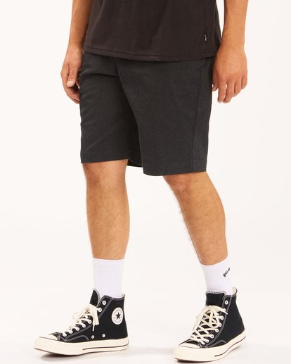 "3 Carter Stretch Shorts 21"" Black ABYWS00121 Billabong"