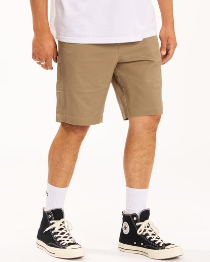"4 Carter Stretch Shorts 21"" Grey ABYWS00121 Billabong"